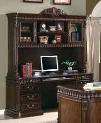 union hill rich brown home office credenza with hutch credenzas