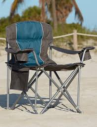 amazon com 500 lb capacity heavy duty portable chair blue