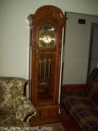 Antique Curio Cabinet With Clock Ridgeway Grandfather Clock Ebay