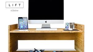 Stand Sit Desk by Lift Upgrade Your Desk To A Sit To Stand Smart Desk By Iskelter