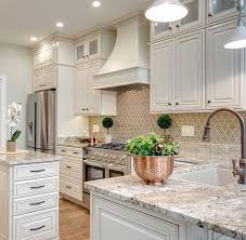 kitchen cabinets backsplash a neutral colored kitchen looks clean and fresh the patterned