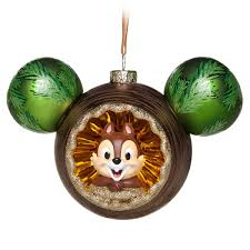 chip n dale glass mickey mouse icon ornament shopdisney