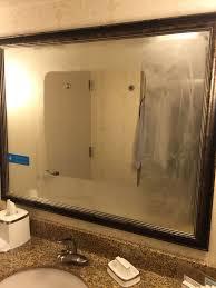 Anti Mist Bathroom Mirror My Hotel Bathroom Mirror Has An Anti Fog Area Mildlyinteresting