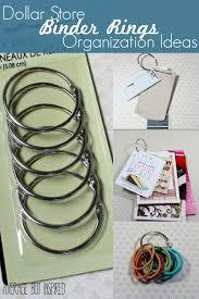 dollar store ganization binder ring organization ideas