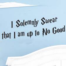 fahion home decor generic wall sticker quote i solemnly swear that