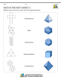 Free Printable Shapes Worksheets Geometry Nets Information Page