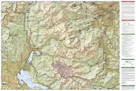 Colorado National Parks Map by Rocky Mountain National Park Hiking Map Trails Illustrated Maps