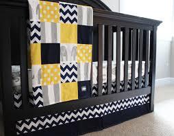 baby crib bedding set yellow navy blue grey elephant Grey And Yellow Crib Bedding