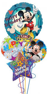 singing birthday delivery mickey mouse clubhouse singing birthday balloon bouquet delivery