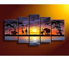 african landscape painting wall art decor hand paint oil painting