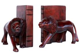 lion book ends fair trade shop all products tagged bookends jesus economy