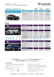 lexus singapore warranty lexus singapore printed car price list oneshift com