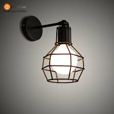Lights For Bedroom Aliexpress Com Buy Vintage Iron American Wall Lamp Modern Black