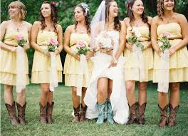 bridesmaid dresses with cowboy boots country bridesmaid dresses with boots
