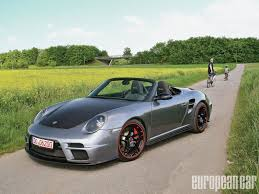 porsche 911 front view porsche 911 9ff speed 9 top chopped european car magazine