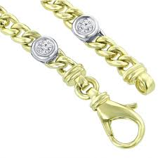 name link bracelet images 0 91 ct ladies two tone cuban link round cut diamond tennis bracelet jpg