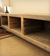 Media Console Furniture by Reclaimed Wood Segmented Media Console Consoles Wood Company