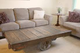 Industrial Cart Coffee Table Industrial Cart Coffee Table