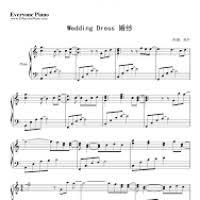 wedding dress piano sheet taeyang wedding dress piano sheet mkrs info