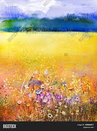 wild flowers in wild meadows abstract watercolor painting purple image u0026 photo bigstock