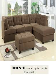 Sectional Sofa With Ottoman Design Guide How To Style A Sectional Sofa Confettistyle