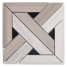 Floor And More Decor Valentino Parquet Marble Mosaic 12in X 12in 100246073