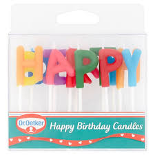 happy birthday candle dr oetker happy birthday candles tesco groceries