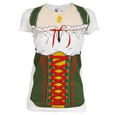 Ladies Halloween Shirts by Womens Fraulein Beer Festival Costume T Shirt White Oktoberfest