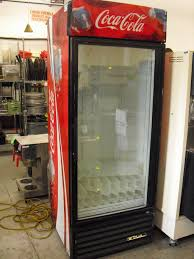 glass door refrigerator for home for sale with coca cola painting
