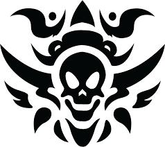 tribal skull tattoo isolated stock photo by nobacks com