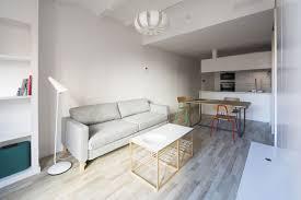 Grey Floor Living Room Apartment Elegant White Apartment Interior Designed By Nook