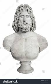ancient bust greek god zeus isolated stock photo 46344226