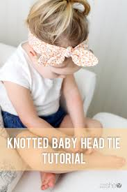 how to make a baby headband knotted baby headband tutorial diy your own knotted headband