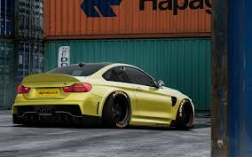 bmw m4 slammed big boned bmw m4 coupe is for the virtual track world