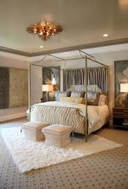 bedroom copper canopy bed with sheer also vaulted ceiling