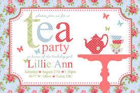 tea party invitations wording begin the invites