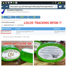 Sabun Qm jual qm anti acne soap sabun anti jerawat qm bpom