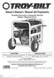 troy bilt portable generator 01919 1 user guide manualsonline com