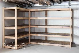 Wood For Shelves Making by Diy Basement Shelving The Wood Grain Cottage