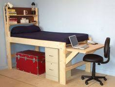Loft Bed With Desk For Teenagers Queen Loft Bed With Desk Underneath I Made That Pinterest