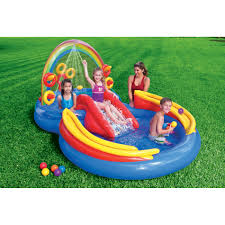 intex rainbow ring inflatable water play center