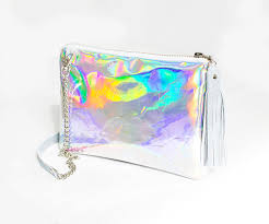 holographic bags holographic leather bag iridescent crossbody bag small