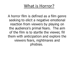 Seeking Genre What Is Horror