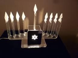 lucite menorah judaica vintage lucite electric chanukah menorah hanukkah menorah