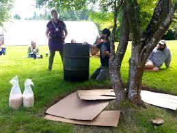 making a wood chip mushroom garden milkwood permaculture