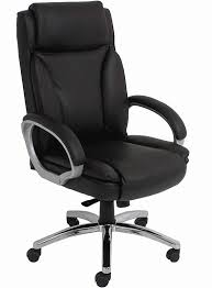 Black Leather Big  Tall Office Chair w 350 lb Capacity