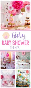 baby girl shower themes girl baby shower themes ideas squared