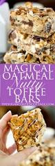 Oatmeal Bars With Chocolate Topping Magical Oatmeal Nutty Toffee Bars Recipe Toffee Bars Toffee