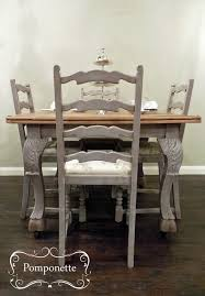 painted dining room set bistro dining table 4 re upholstered chairs nice legs annie