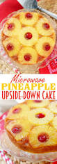 stay cool this summer with this microwave pineapple upside down